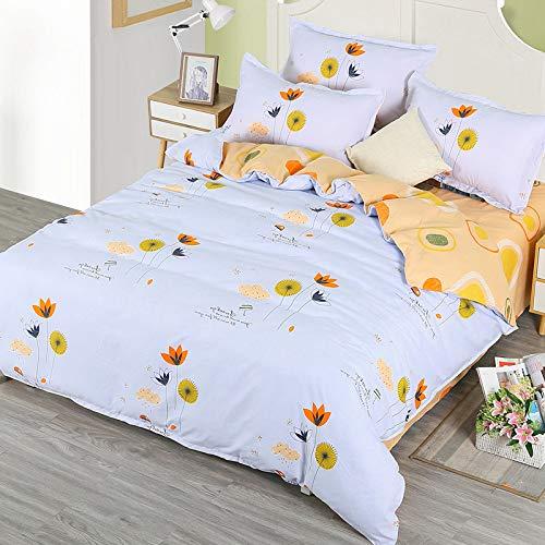 yaonuli Vierteilige Heimtextilien Bettwäsche aus scharfem Köper Simple Suite Garden Impression 1,5 m Bettbezug: 150 * 200 cm Bettlaken: 200 * 230 cm Kissenbezug: 50 * 74 cm * 2