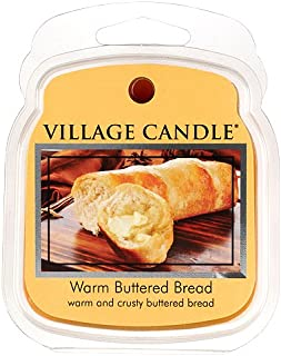 Village Candle Warm Buttered Bread, Wax Melts Flameless Fragrance, 2.2 Oz, Traditions Collection, Brown