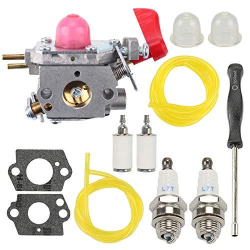 Hilom 545081857 Carburetor Kit for Poulan VS-2 BVM200FE Leaf Blower Craftsman Weedeater Poulan Trimmer Zama C1U-W43 with Fuel Filter Spark Plug