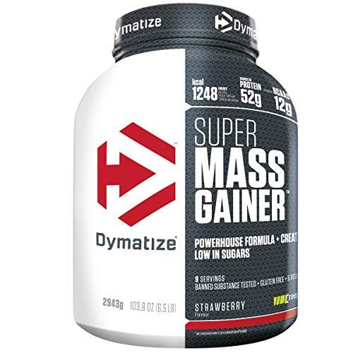 Dymatize Super Mass Gainer Strawberry 2,9kg - Weight-Gainer Pulver + Kohlenhydrate, BCAAs und Casein