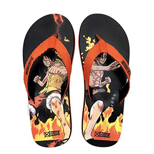 OUGEA Zapatillas de una Pieza para Hombres Verano Turco Personalidad Playa halflah Dragon-S (36-37)_Negro