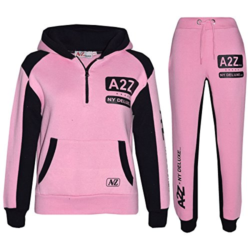 A2Z 4 Kids® Enfants Garçons Filles Survêtement Designer A2Z Deluxe Edition - T.S A2Z NY 001 Baby Pink 7-8