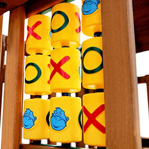 Gorilla Playsets 07-0010 Tic Tac Toe Spinner Activity Panel for Swing Sets, Yellow