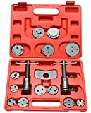 FreeTec 18 Piezas Resetter de pistón Kit Reposición Pistón de Freno pistón Placa Trasera Set Compatible con BMW