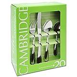 Cambridge Silversmiths 20 Pc Flatware Set, Allure Mirror