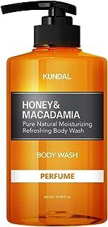 KUNDAL Honey & Macadamia Pure Natural Moisturizing Body Wash 500ml (Baby Powder)