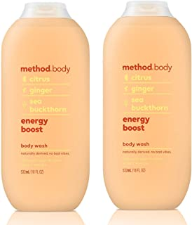 Method Body Body Wash - Energy Boost 18 FL OZ 532 ml - 2-PACK