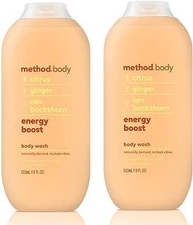 Method Body Body Wash - Energy Boost 18 FL OZ 532 ml - 2-PACK