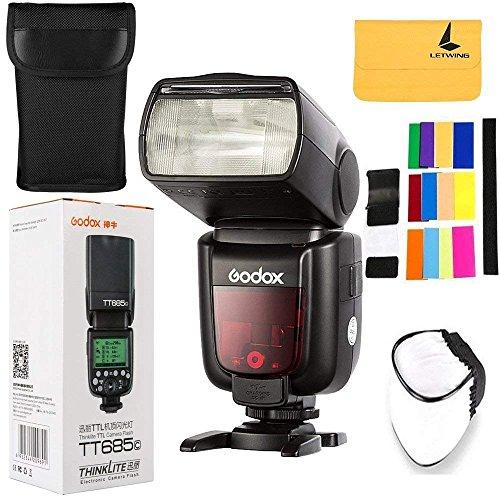 Godox tt685C-Flash, Flash Esclavo, Negro, 2,6S, Canon, 5600K, 360°