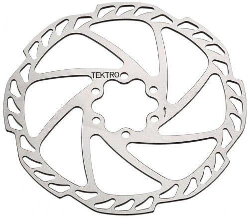 Tektro Unisex– Erwachsene Bremsscheibe-2033165800 Bremsscheibe, schwarz, 180mm