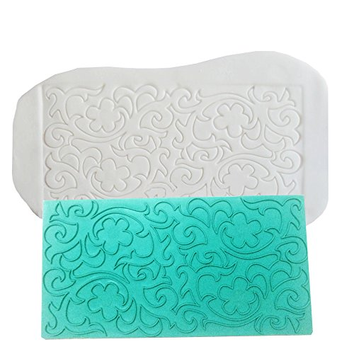 Gobaker Imprint Mat Set Gumpaste Flower deisgn Press Mold Fondant Cake Embosser for Cupcake Top Decoration