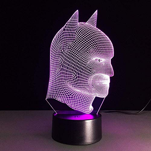 Luz De Noche Led 3D Control Remoto Luz De Color Luz De Noche Para Niños Luz De Noche Visual Ilusión Luz De Humor Para Niños