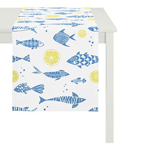 APELT 6103 48x140 Fb. 10 Tischläufer 48 x 140 cm, Fische