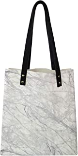 Women's Soft PU leather Tote Shoulder Bag, Granite Surface with Bunch of Fracture Lines and Branches Veins Artful Design,Big Capacity Handbag Hobo bag, Satchel Purse