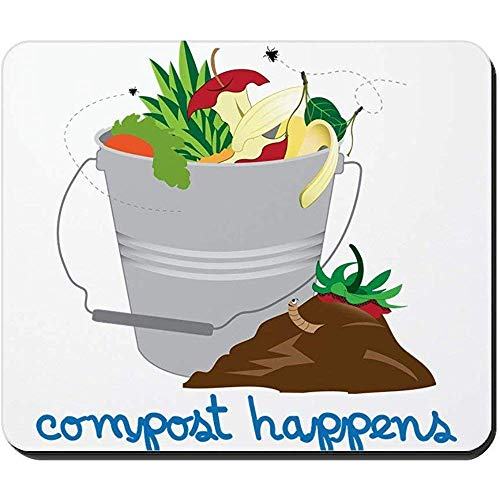 Schreibtischunterlage,Kompost Geschieht Mousepad Rutschfeste Gummi-Schreibtisch-Auflage Perfekte Computer-Auflage-Matte 30X25Cm