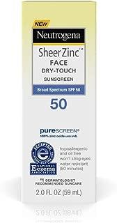 Neutrogena Sheer Zinc Face Dry Touch Spf#50 Sunscreen 2 Ounce (59ml) (2 Pack)