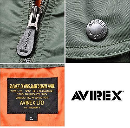AVIREXアビレックス6152131L-2BフライトジャケットCOMMERCIALMODEL【クーポン対象外】(2XL073SAGEGREEN)