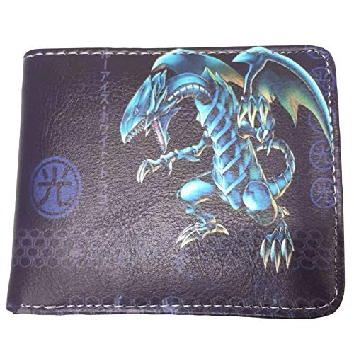Yu-Gi-Oh Klassische Anime Patterned Wallet Beliebte Bifold Leder-Karten-Paket Geldbörse (Color : A12, Size : 11.5 X 9cm)