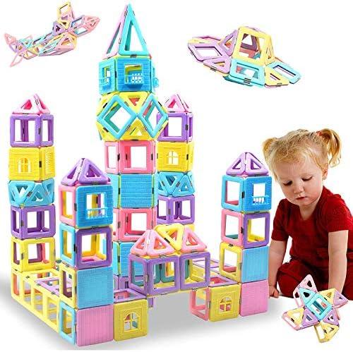 HLAOLA Magnetic Blocks 102PCS Upgrade Magnetic Building Blocks for Kids Magnetic Tiles 3D Magnetic product image