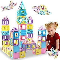 professional HLAOLA Magnetic Block 102 PCS Upgrade Magnetic Building Block Children's Magnetic Tile 3D…