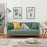 Funda de Sofa Cubre Sofas Verde Oscuro 90 * 90 cm, Funda de sofá...