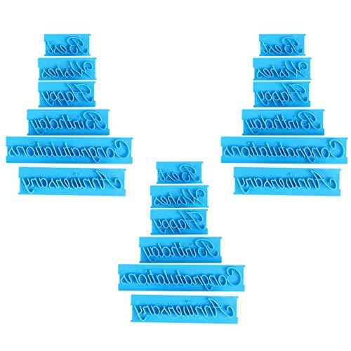 Stampo per lettere lettera fondente Stencil Template Stampi in plastica Cake Embosser Decorating Printing Mold 3 Set