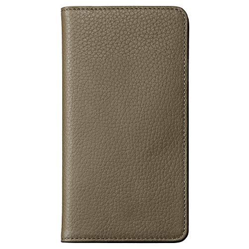 【Amazon.co.jp 限定】HAKUBA fineseed iPhone XR 手帳型 ケース ウォームグレー 高級牛革製 6.1インチ対応...