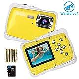 Unterwasser Kamera für Kinder,12MP HD wasserdichte Digitalkamera,Mini Action Camcorder...