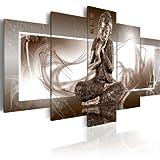 murando Impression sur Toile intissee 100x50 cm 5 Pieces Tableau Tableaux Decoration Murale Photo Image Artistique Photographie Graphique Bouddha 020113-266