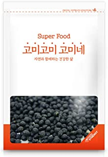 Gomine Korean Small Black Bean, 500g, Pure Grain, Great with Rice & Baking Ingredient, Rich & Nutritious, Contains Anthocyanin, Vitamin E, Isoflavone, Lecithin & Glycitein 쥐눈이콩