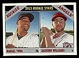 Topps # 306 2015 Rookie Stars Jackson Williams/Rafael Ynoa Los Angeles/Colorado Angels/Rockies (Baseball Card) NM/MT Angels/Rockies. rookie card picture