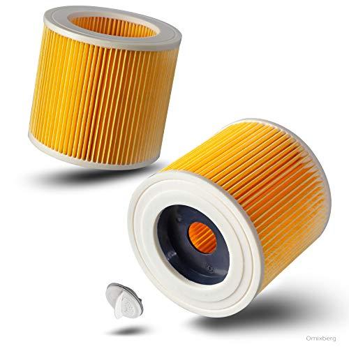 Juego de 2 filtros de repuesto para Kärcher WD 2, WD 3, WD 3200, WD 3300 M, WD 3500 P Kärcher MV3, SE 4001. SE 4002, 1:1 optimizado y apto para 6.414-522.0