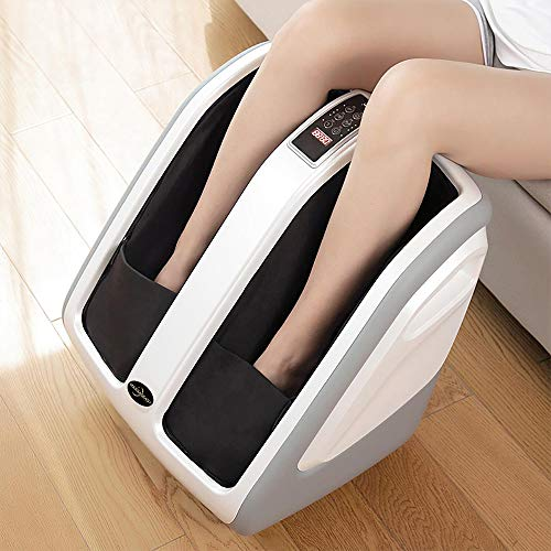 Shiatsu Foot and Calf Massager Machine with Adjustable Pressure Under Feet Massage Rollers with Soothing Heat Deep Kneading Foot and Leg Massage Machine for Home&Office Best Gifts for Your Parents