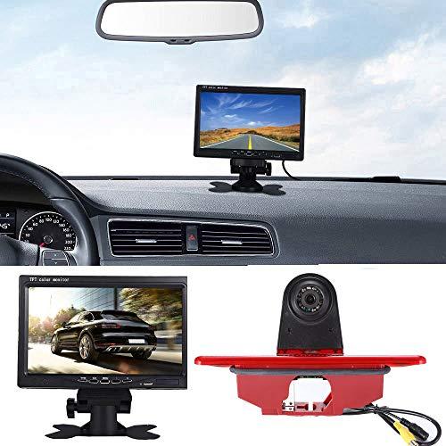 〔Kit de cámara de visión trasera〕 Monitor de pantalla TFT LCD de 7 pulgadas + Cámara HD reversa de luz de freno impermeable para automóvil HD para Peugeot Expert/Fiat Scudo/Citroen Jumpy 2007 – 2016