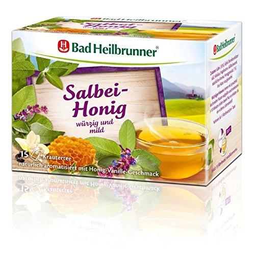 Bad Heilbrunner Salbei-Honig Tee, 15er Filterbeutel, 1er Pack (1 x 26.25 g)