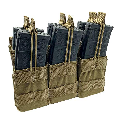 Acme Approved Tactical Triple Stacker M4 -M16 Mag Pouch - Best Fit for Military,Soldiers,Police Shooting Gear.- Coyote Brown