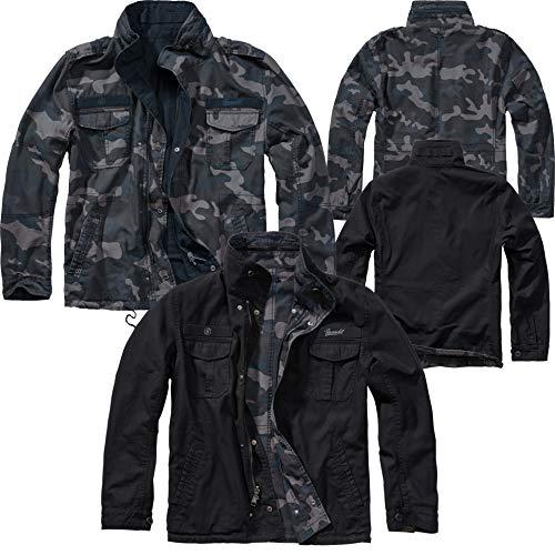 Brandit Twister Reverse Vintage Jacket, darkcamo/schwarz, Größe 3XL