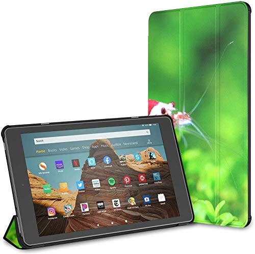 Estuche para camarones Rojos de Cristal de pie sobre Tableta Aquatic Moss Fire HD 10 (9a / 7a generación, versión 2019/2017) Estuche para Tableta Fire 10 HD Estuche para Tableta Kindle 10 Fire Auto W