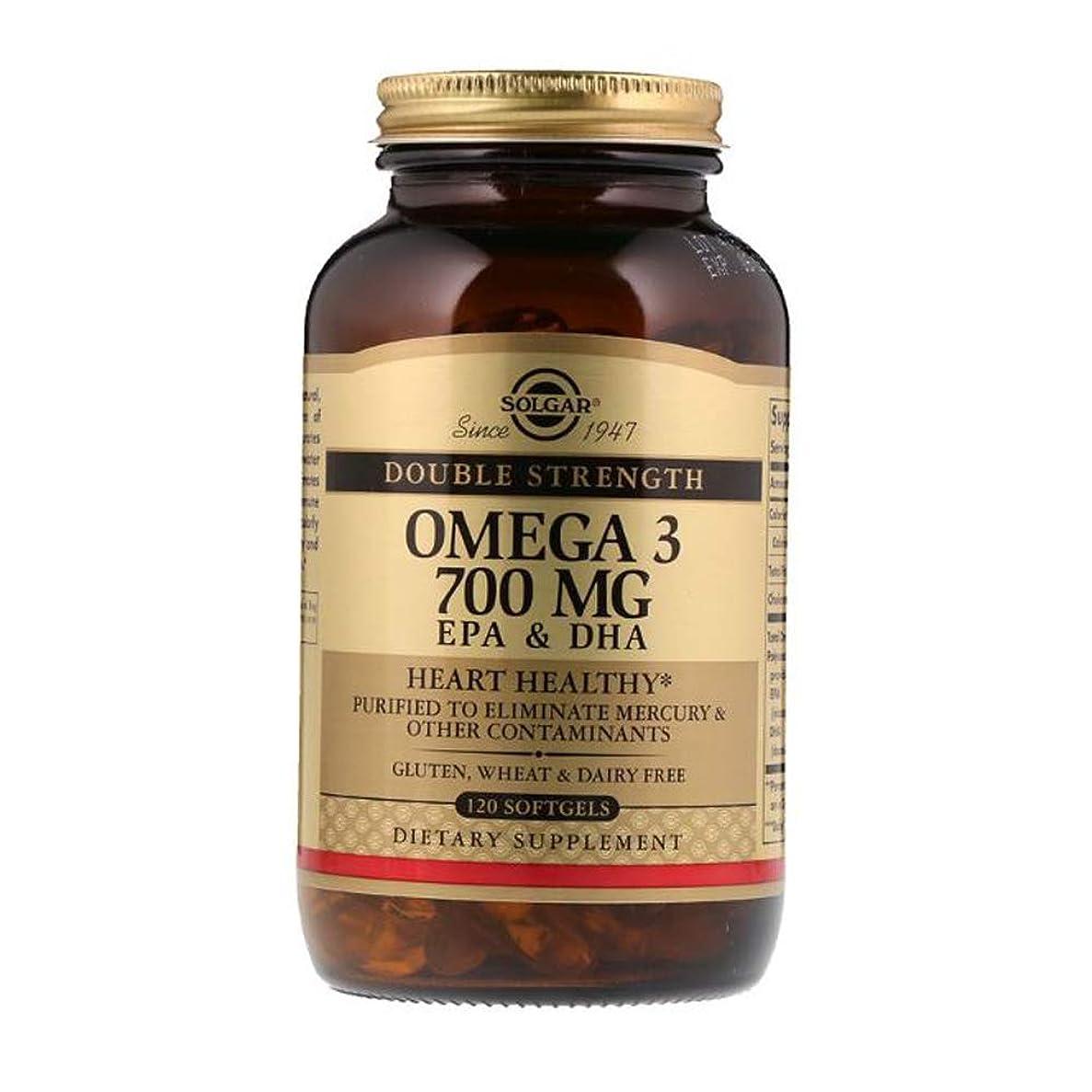 ファンネルウェブスパイダーうめきアスレチックSolgar Omega 3 EPA DHA Double Strength 700mg 120 Softgels 【アメリカ直送】