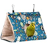 Warm Bird Nest House Winter Bird Shed Hut Bird Hanging Hammock Parrot Hideaway Cave Fluffy Finch Cage for Hamster Parrot