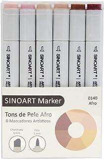Marcador Artístico Sinoart Marker 06 Tons de Pele Afro