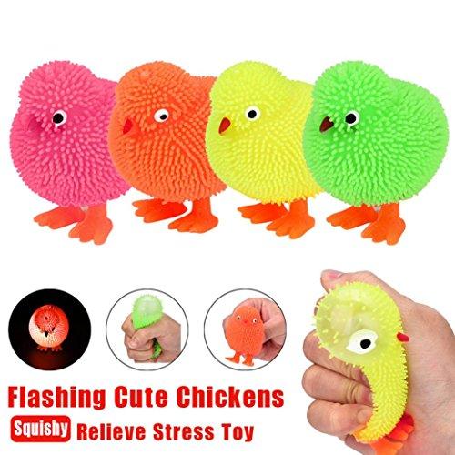 Squishy juguete, 6cm novedad intermitente Puffer pollos lindos esté actividad de juguete sensorial y pelota de juego LMMVP