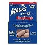 Mack's Tapones para los oídos de espuma ultra suave, 10 pares