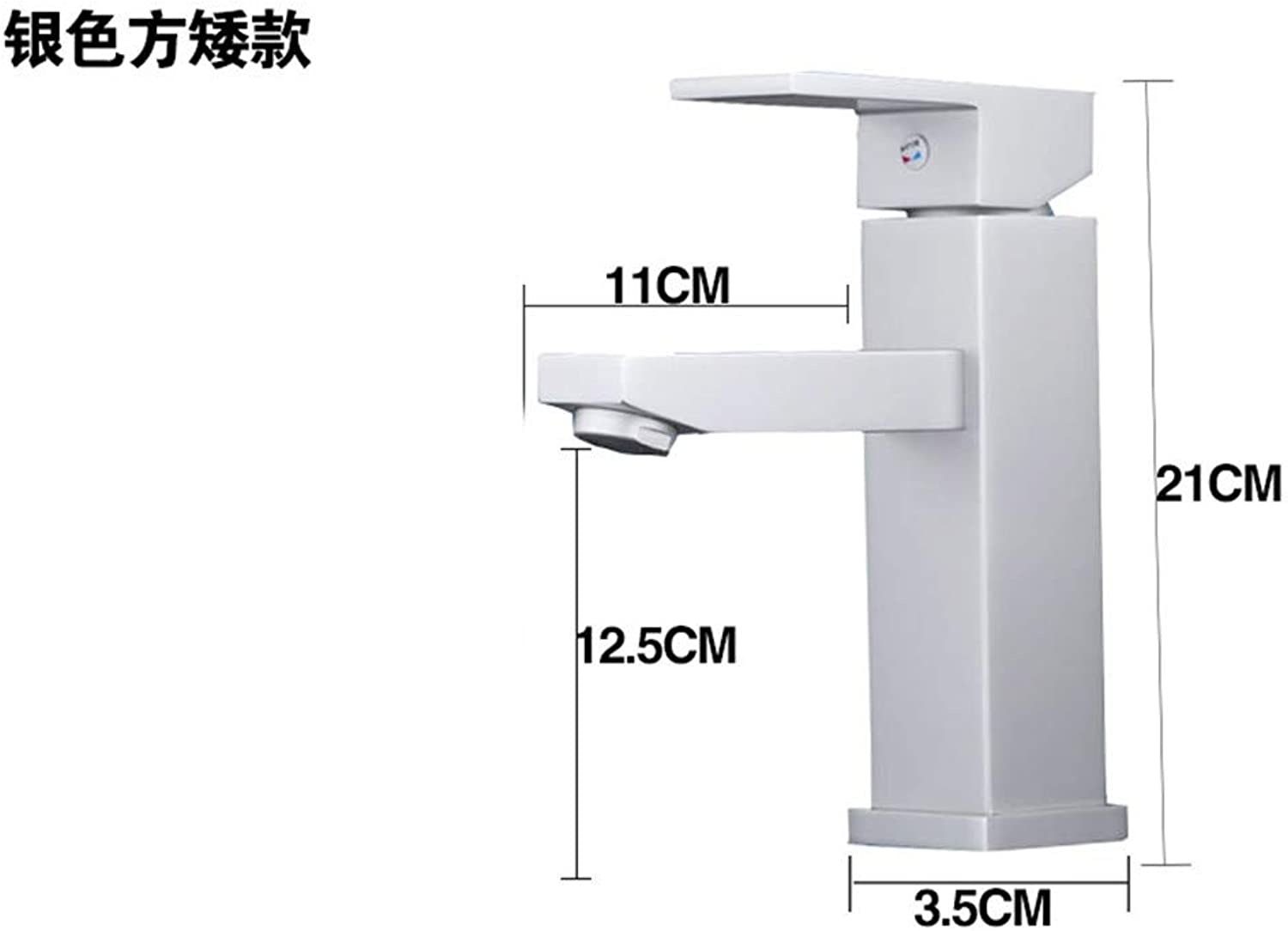 Guolaoer Black Hot And Cold Basin Faucet Copper Household???White