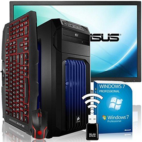 AGANDO Extreme Gaming PC-Komplettpaket | Intel Core i7 6700K 4x 4.0GHz | Turbo 4.2GHz | AMD Radeon RX 480 8GB OC | 16GB RAM | 240GB SSD | 1000GB HDD | DVD-RW | Gigabyte Gaming Mainboard | USB3.0 | Killer LAN | Soundblaster X-Fi | 60cm (24
