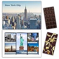 "DA CHOCOLATE お菓子お土産ニューヨークチョコレートセット1箱7.2x5.2 ""3オンス各チョコレート4x2"" (DARK Orange Cedar Mint)"