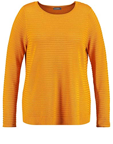 SAMOON 372200-25206 Felpa, Giallo (Butterscotch 4010), Medium Donna