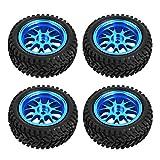 RC Wheel 4PCS RC Crawler Neumáticos RC Crawler Neumáticos Portátiles 1,7 Pulgadas RC Neumáticos 1/18 Neumáticos de Coche Azul 4 Uds para WL A959 A979...