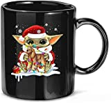 Funny Baby #Yoda Hug Cocker Spaniel Dog Christmas Ceramic Tazze da caffè Tazze