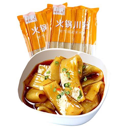 2pcs Potato Flat Wide Glass Noodles, 100% Sweet Potato Starch Crystal Vermicelli,vegan Fat-free and Gluten-free, 400g